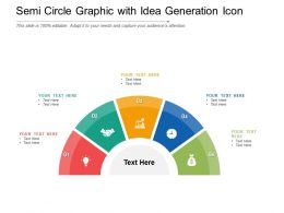 Semi Circle Graphic With Idea Generation Icon