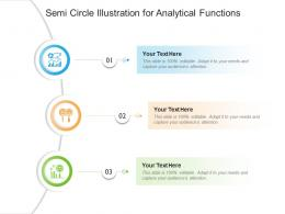 Semi Circle Illustration For Analytical Functions Infographic Template