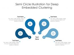 Semi Circle Illustration For Deep Embedded Clustering Infographic Template