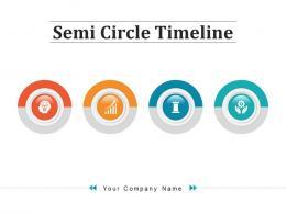 Semi Circle Timeline Business Achievement Production Workforce Analytics Investment