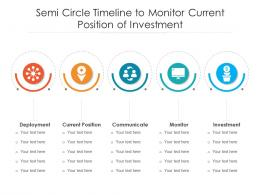 Semi Circle Timeline To Monitor Current Position Of Investment