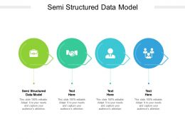 Semi Structured Data Model Ppt Powerpoint Presentation Portfolio Graphics Pictures Cpb