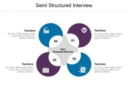 Semi Structured Interview Ppt Powerpoint Presentation Gallery Layout Cpb