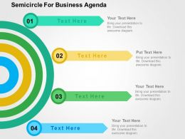 Semicircle For Business Agenda Flat Powerpoint Design