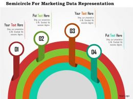 Semicircle For Marketing Data Representation Flat Powerpoint Design