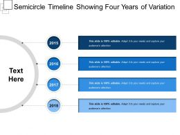Semicircle Timeline Showing Four Years Of Variation