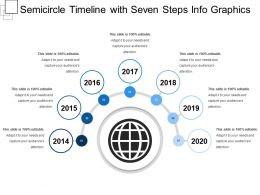 Semicircle Timeline With Seven Steps Info Graphics