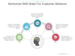 Semicircle With Brain For Customer Behavior Ppt Slide Themes