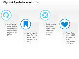 Semicircular Arrow Tag Cross Heart Ppt Icons Graphics