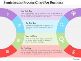 Semicircular Process Chart For Business Flat Powerpoint Design