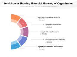 Semicircular Showing Financial Planning Of Organization