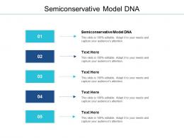 Semiconservative Model DNA Ppt Powerpoint Presentation Gallery Design Templates Cpb