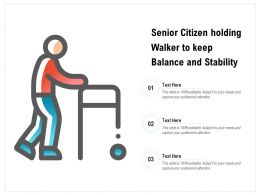 Senior Citizen Holding Walker To Keep Balance And Stability