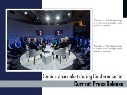 Senior Journalist During Conference For Current Press Release
