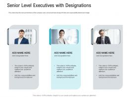 Senior Level Executives With Designations Pitch Deck Raise Seed Capital Angel Investors Ppt Themes