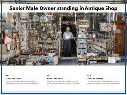 Senior Male Owner Standing In Antique Shop