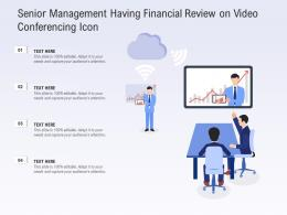 Senior Management Having Financial Review On Video Conferencing Icon