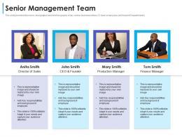 Senior Management Team Convertible Debt Financing Ppt Template
