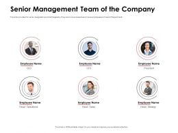 Senior Management Team Of The Company Employee Ppt Powerpoint Presentation Structure