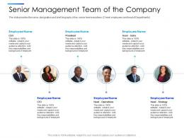 Senior Management Team Of The Company Equity Secondaries Pitch Deck Ppt Clipart