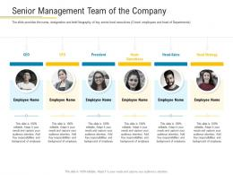 Senior Management Team Of The Company Financial Market Pitch Deck Ppt Structure