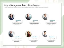 Senior Management Team Of The Company Head Sales Powerpoint Presentation Graphics Pictures