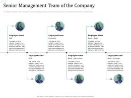 Senior Management Team Of The Company Investment Pitch Raise Funds Financial Market Ppt Slide