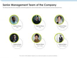 Senior Management Team Of The Company Investment Pitch To Raise Funds From Mezzanine Debt Ppt Microsoft