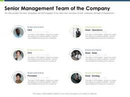 Senior Management Team Of The Company Pitch Deck Raise Funding Post IPO Market Ppt Icon Show