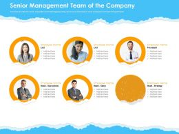 Senior Management Team Of The Company Ppt Powerpoint Presentation Visual Aids Backgrounds
