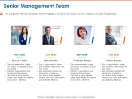 Senior Management Team Ppt Powerpoint Presentation Model Professional