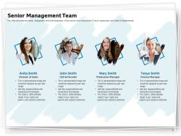 Senior Management Team Ppt Powerpoint Presentation Summary Design Inspiration