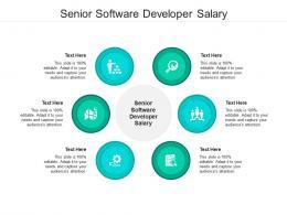 Senior Software Developer Salary Ppt Powerpoint Presentation Outline Ideas Cpb