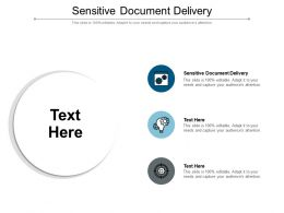 Sensitive Document Delivery Ppt Powerpoint Presentation Professional Ideas Cpb