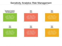 Sensitivity Analytics Risk Management Ppt Powerpoint Presentation Layouts File Formats Cpb