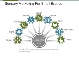 Sensory Marketing For Small Brands Presentation Outline