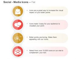 Sent Mail Voice Communication Social Media Networking Ppt Icons Graphics