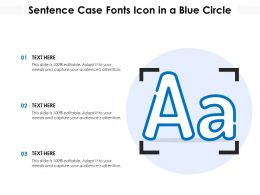 Sentence Case Fonts Icon In A Blue Circle