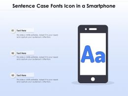 Sentence Case Fonts Icon In A Smartphone