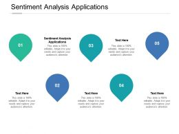 Sentiment Analysis Applications Ppt Powerpoint Presentation Gallery Outline Cpb