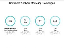 Sentiment Analysis Marketing Campaigns Ppt Powerpoint Presentation Portfolio Maker Cpb
