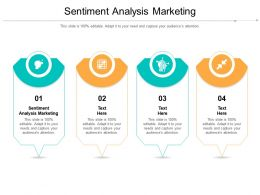 Sentiment Analysis Marketing Ppt Powerpoint Presentation Outline Infographics Cpb