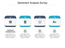 Sentiment Analysis Survey Ppt Powerpoint Presentation File Templates Cpb