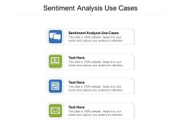 Sentiment Analysis Use Cases Ppt Powerpoint Presentation Professional Example File Cpb