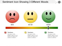 Sentiment Icon Showing 3 Different Moods