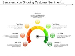 Sentiment Icon Showing Customer Sentiment Analysis With Various Moods