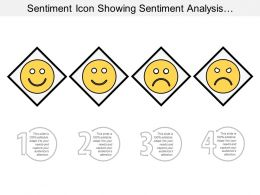 Sentiment Icon Showing Sentiment Analysis With Various Sentiment Faces