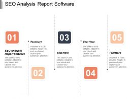 Seo Analysis Report Software Ppt Powerpoint Presentation Icon Microsoft Cpb