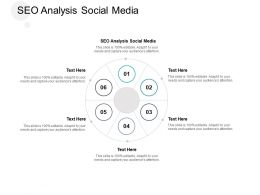 SEO Analysis Social Media Ppt Powerpoint Presentation Layouts Slides Cpb