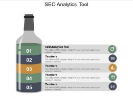 SEO Analytics Tool Ppt Powerpoint Presentation Icon Gridlines Cpb